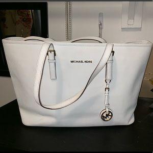Michael Kors White Large Bag